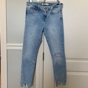 Zara denim jeans size 8